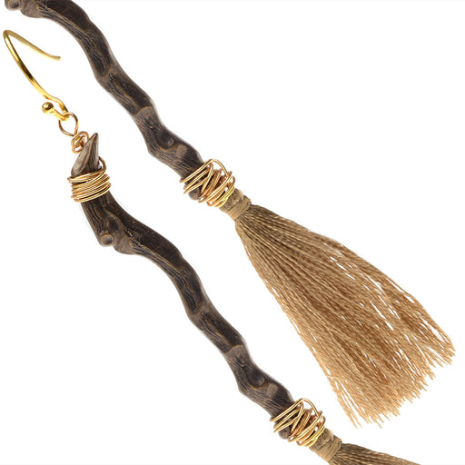 Witch's Broom Earrings