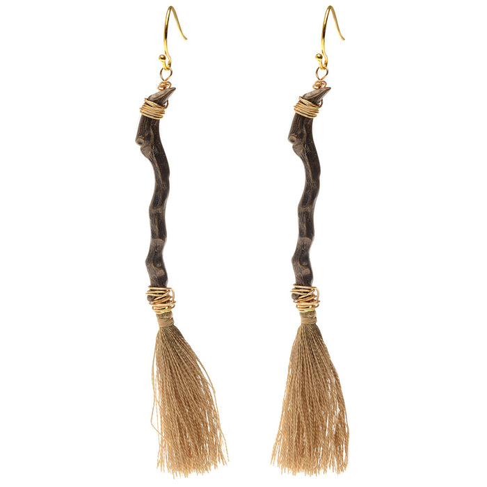 Retired - Witch's Broom Earrings