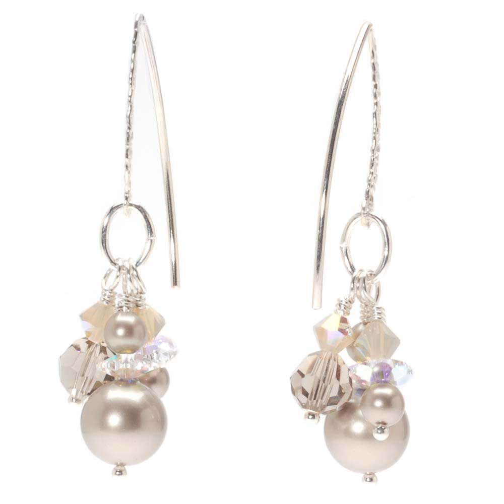 Retired - Sparkling Champagne Earrings