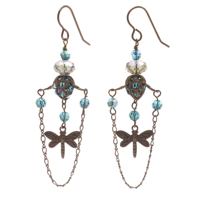 Retired - Dragonflies at Dusk Earrings