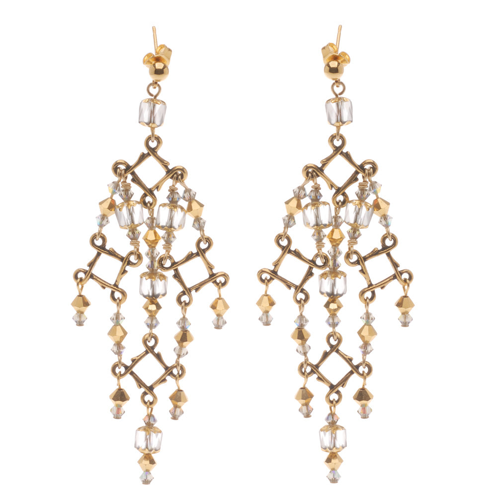 Retired - High Drama in Gold Earrings