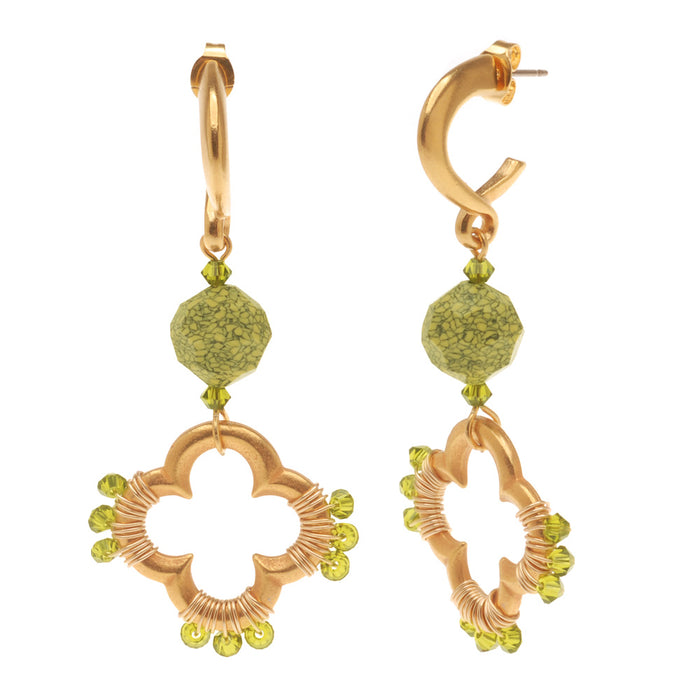 Retired - Contempo Quatrefoil Earrings