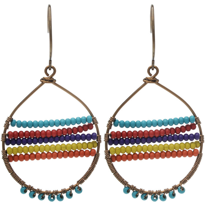 Retired - Boho Rainbow Earrings