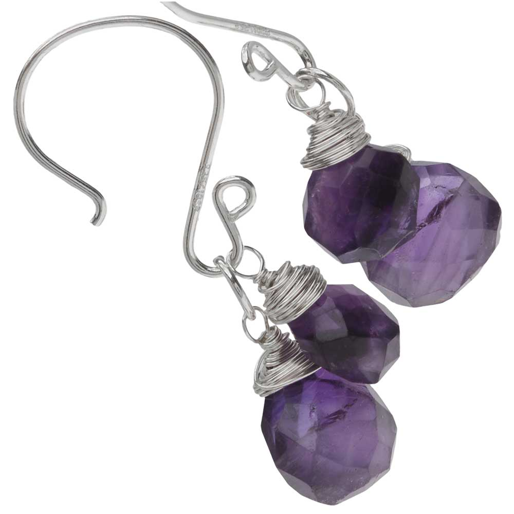 Retired - Drops of Violet Earrings