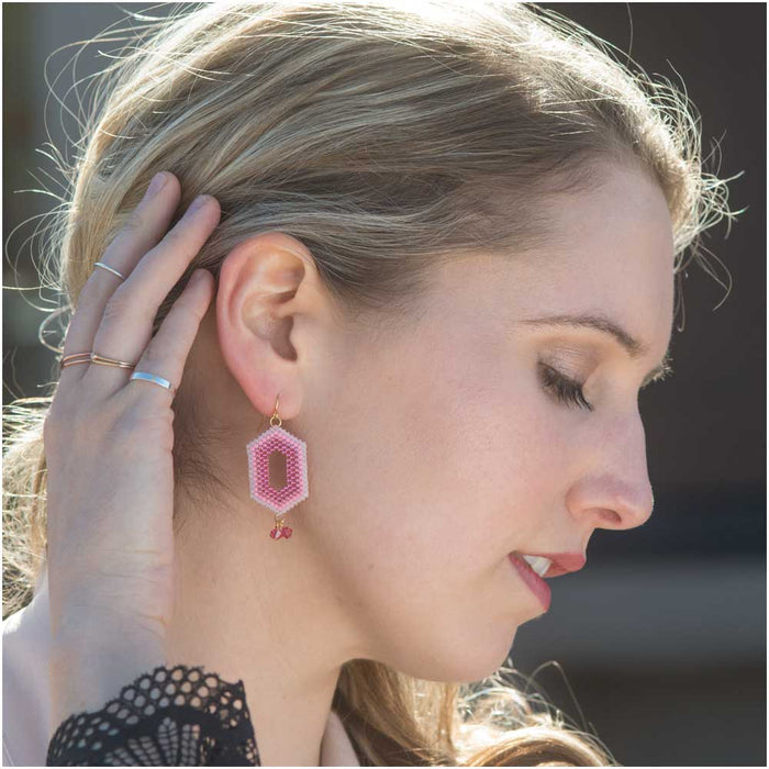 Ombre Window Earrings in Jelly Bean