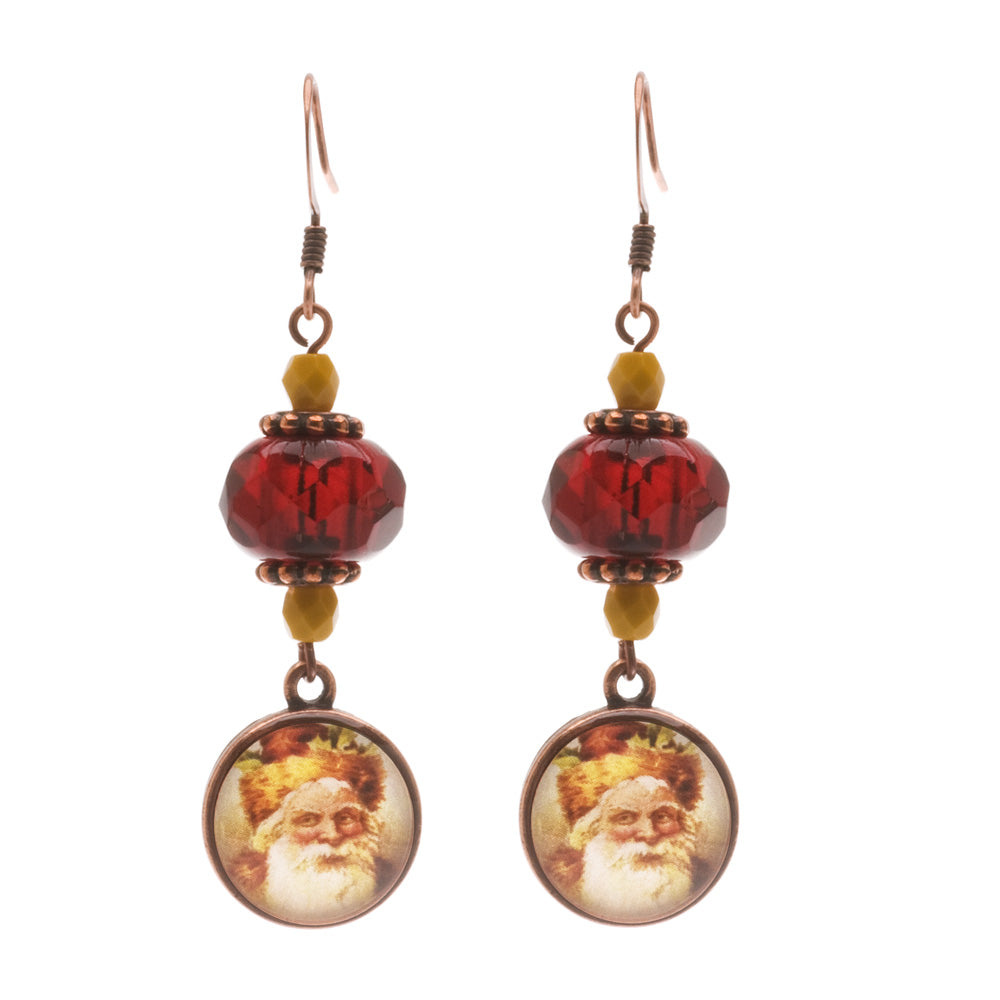 Retired - Old World Santa Earrings