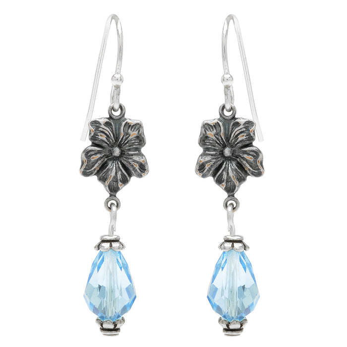 Retired - Miss Violet Earrings in Aquamarine