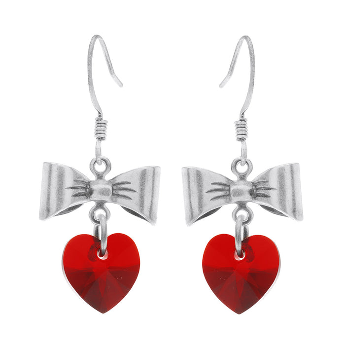 Sweetheart Earrings in Siam Red