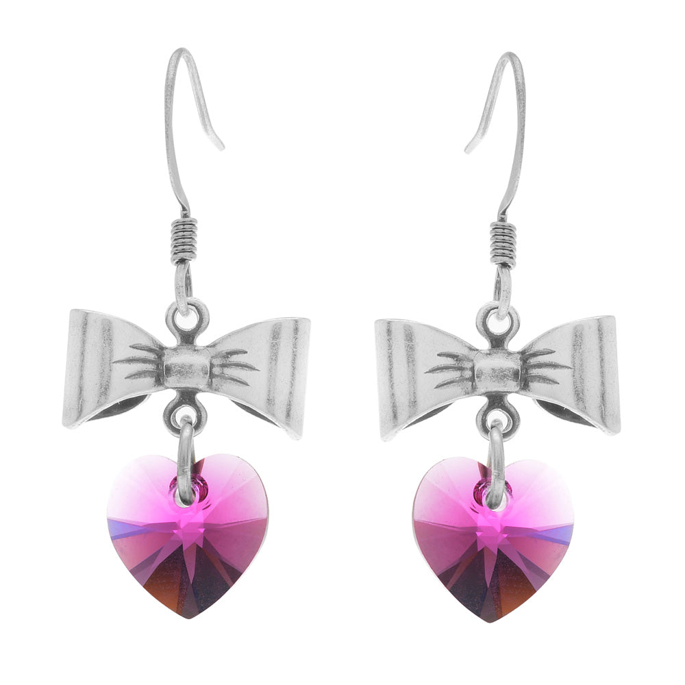 Retired - Sweetheart Earrings in Fuchsia