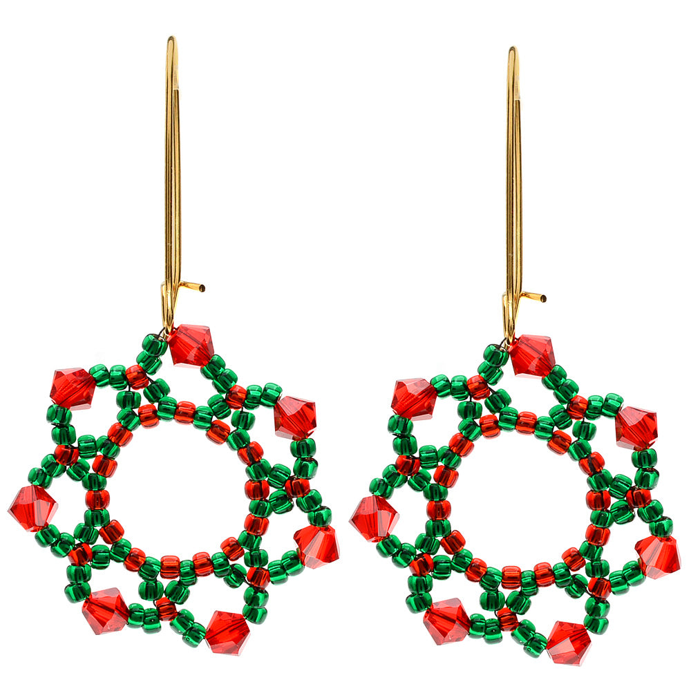 Festive Holiday Flower Earrings