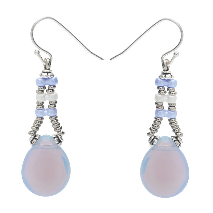 Retired - Infinity Drop Earrings in Periwinkle