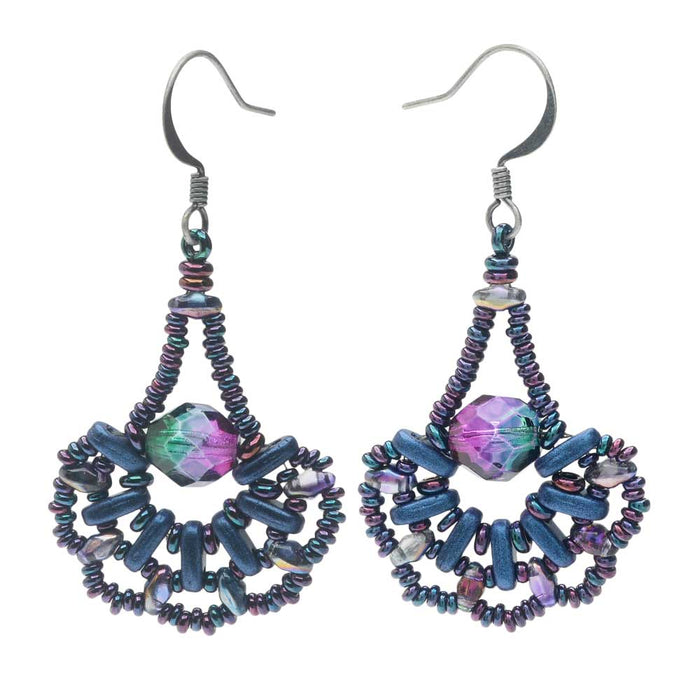 Peacock's Pride Earrings in Blue