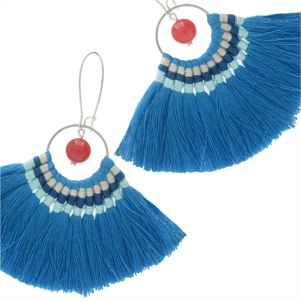 Mykonos Fanned Tassel Earrings