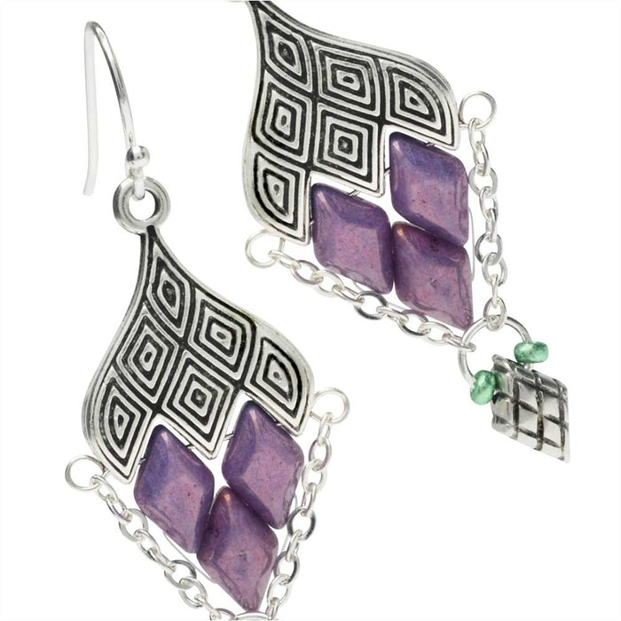 Retired - Geometric Grape Cluster Earrings