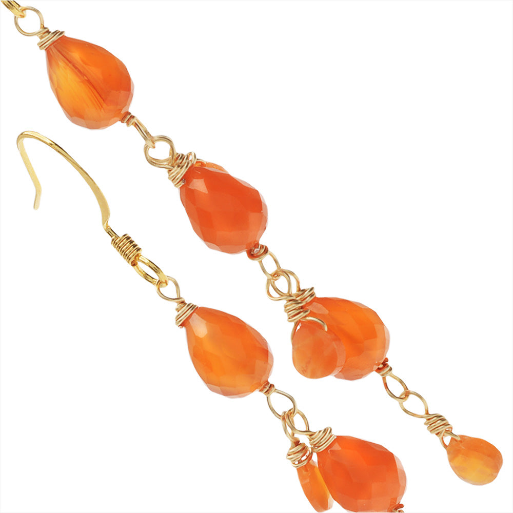 Retired - Carnelian Drop Earrings