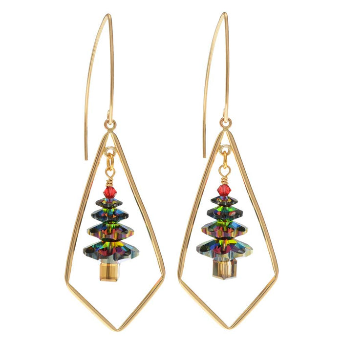 Retired - Dazzling Swarovski Christmas Tree Earrings