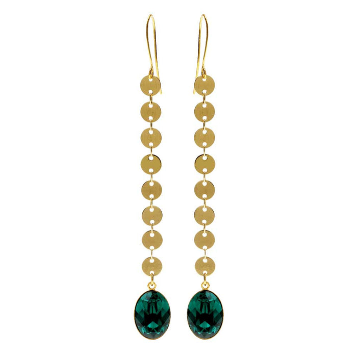 Emerald Sequin Earrings