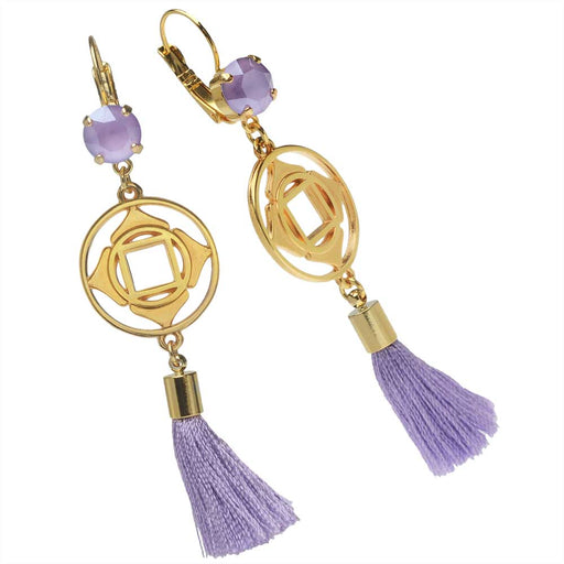 Lovely Lilac Tassel Earrings