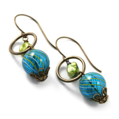 Retired - Aqua Bauble Earrings