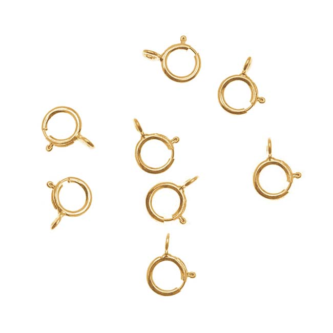 14K Gold Filled Spring Ring Round Clasps 5mm (10)