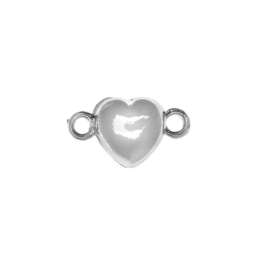 Magnetic Clasp, Puffy Heart Design 17.5x10mm, 2 Sets, Platinum Tone