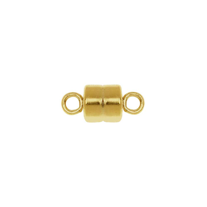 Magnetic Clasp, Round with Loops 10mm, 1 Set, 14k Gold Filled