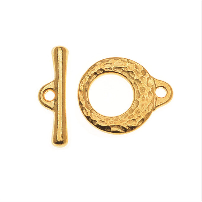 TierraCast Maker's Collection, Maker's Toggle Clasp Set, 22K Gold Plated