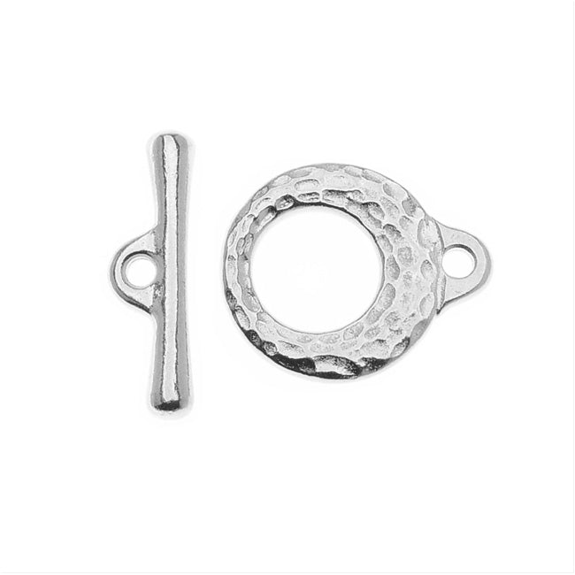 TierraCast Maker's Collection, Maker's Toggle Clasp Set, Silver Tone
