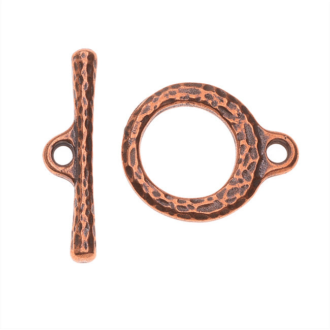 TierraCast Maker's Collection, Craftsman Toggle Clasp Set, Antiqued Copper Plated