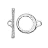 TierraCast Maker's Collection, Craftsman Toggle Clasp Set, Silver Tone