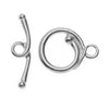 TierraCast Maker's Collection, Renaissance Toggle Clasp Set, Silver Tone