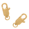 22K Gold Plated Straight Lobster Claw Clasps 12mm (10)