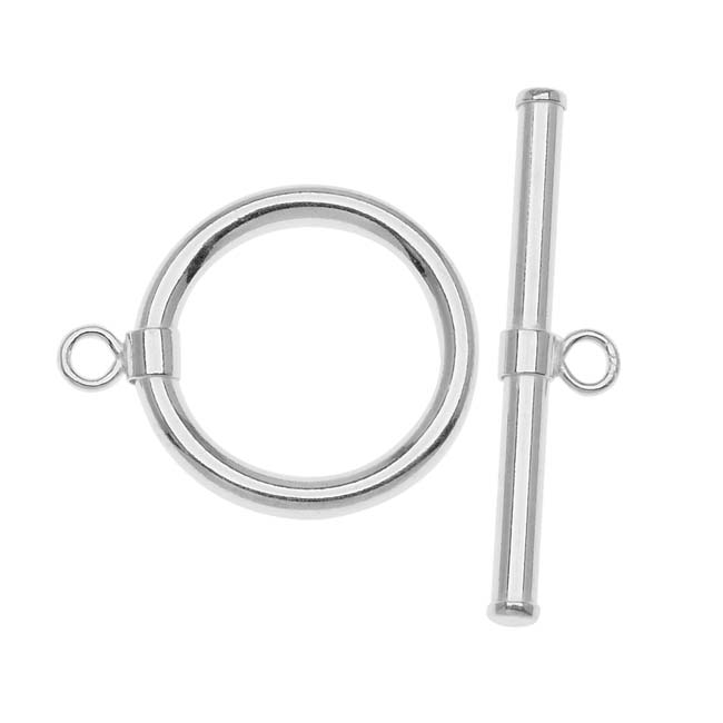 Sterling Silver Sleek Wrap Toggle Clasp 15mm (1)