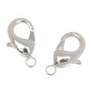 Silver Plated Curved Lobster Clasps 12mm (6)