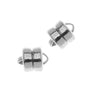 Silver Plated Magnetic Clasps 6mm x 8mm (3)