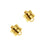 22K Gold Plated Magnetic Clasps 6mm x 8mm (12)