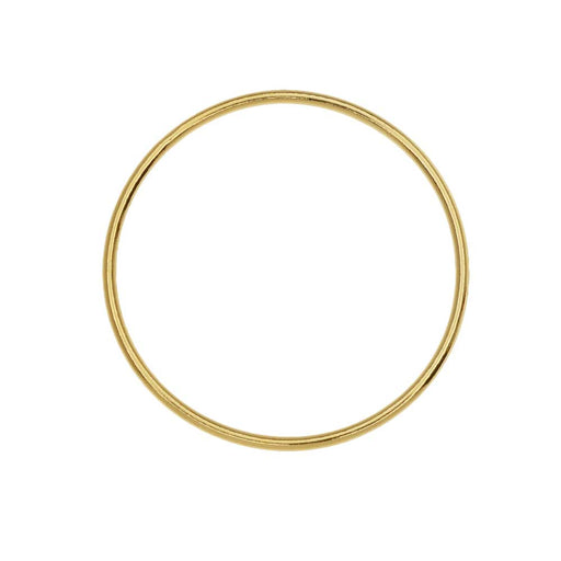 Large Circle Open Frame Link, 25mm Diameter / 18 Gauge, 1 Piece, 14K Gold Filled