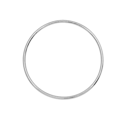 Large Circle Open Frame Link, 25mm Diameter / 18 Gauge Thick, 1 Piece, Sterling Silver