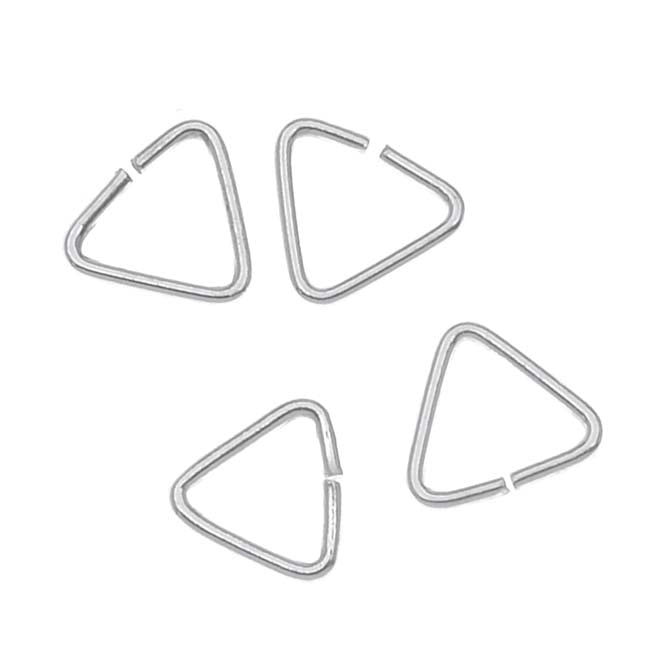 Sterling Silver X-Small Triangle Jump Rings Bails 5 x 5mm (20)