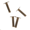 Vintaj Natural Brass, 1/4 Inch Nail Head Rivets for Leather, 20 Pieces