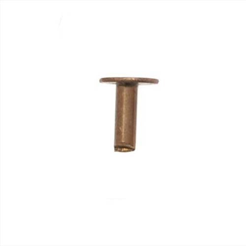 Vintaj Natural Brass, 1/8 Inch Nail Head Rivets for Leather, 20 Pieces