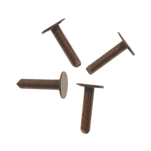 Vintaj Artisan Copper, 1/4 Inch Nail head Rivets for Leather, 20 Pieces