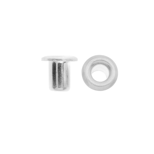TierraCast Hollow Eyelets for Leather 3.7mm Diameter, 10 Pieces, Silver Plated