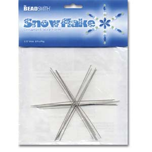Beadsmith Metal Wire Snowflake Forms - Fun Craft Beading Project 3 3/4 Inches
