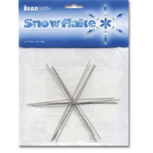 Beadsmith Metal Wire Snowflake Forms - Fun Craft Beading Project 4 1/2 Inches