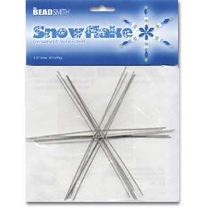 The Beadsmith Metal Wire Snowflake Forms - Fun Craft Beading Project 6 Inches