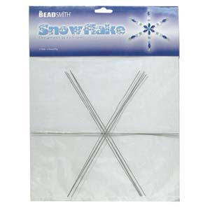 The Beadsmith Metal Wire Snowflake Forms - Fun Craft Beading Project 9 Inches (4 Snowflakes)