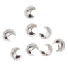 Sterling Silver Crimp Bead Covers 3mm (12)