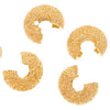 Gold Plated Stardust Sparkle Crimp Bead Covers 4mm (144)