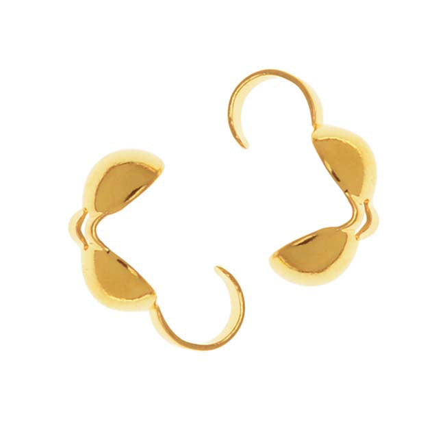 22K Gold Plated 3.7mm Clamshells Knot Covers (50)